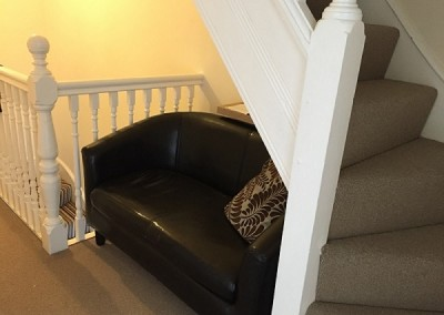 Seating area on stairs